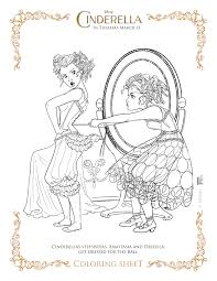 coloring princess cinderella coloring pages