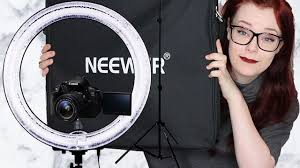neewer led ring light neewer ring light review chit chat i jay callisto youtube