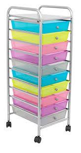 organization bins amazon com internet s best rolling cart organizer 10 multi color
