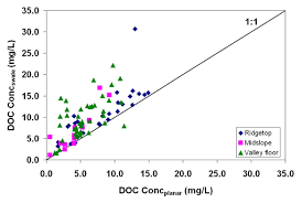 spots and moments of dissolved organic carbon export and