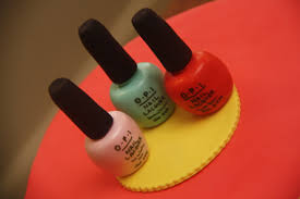 how to make a nail polish cake