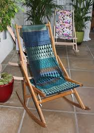 Indoor Wooden Rocking Chair Tribal Pattern Fabric Wooden Rocking Chair Cushions For Nursery