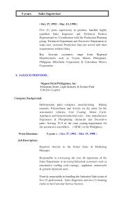 Sales Supervisor Job Description Resume by Resume 2015 Online