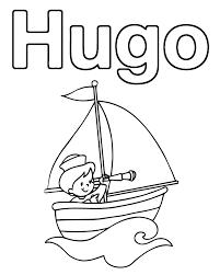 19 dessins de coloriage prénom hugo l u0027escargot à imprimer