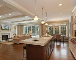 Neutral Wall Colors by Luxury Kitchen Inspirations With Wooden Island And Neutral Wall