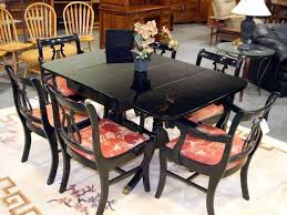 Black Lacquer Dining Room Furniture Duncan Phyfe Dining Table Painted Black Lacquer Dining Room