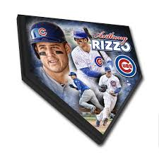 home plate anthony rizzo home plate plaque chicago tribune store