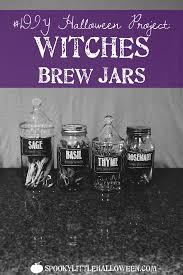 diy halloween project witches brew jars spooky little halloween