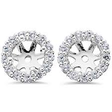 earring jacket 14k white gold 1 2ct diamond earring jackets stud
