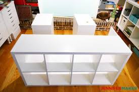 diy craft table ikea diy craft table with storage my ikea hack jennifer maker
