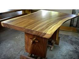 Large Wooden Kitchen Table by Wood Dining Table Natural Curve Bali Indonesia