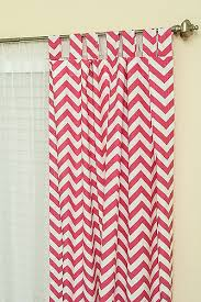 Pink Chevron Curtains Stitched By Tutorial Easy Sew Curtains