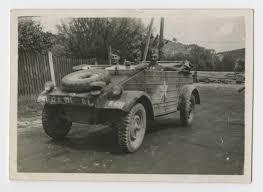 volkswagen kubelwagen three staff sergeants in a captured volkswagen kübelwagen the