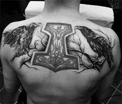 60 odin u0027s ravens tattoo designs for men huginn and muninn ideas