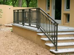 metal stair railing exterior a more decor