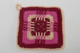 madeheart u003e unusual handmade pot holder decorative crochet