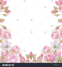 Invitation Card With Photo Greeting Card Roses Watercolor Can Be Stock Illustration 367736891