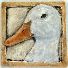 duck decorative tile 4x4