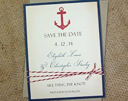 nautical save the date rustic save the date cards wedding announcements set