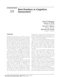 best practices in cognitive assessment pdf download available