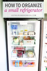 How To Organize Small Kitchen Appliances - how to organize a small refrigerator just a and her blog