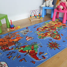 Kid Rug Carpet Rugs Educational Colourful World Map Countries