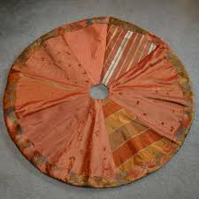copper and bronze christmas tree skirt by laurastripling on etsy