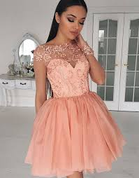 cheap tulle cheap homecoming dresses 2018 a line bateau cap sleeves tulle