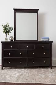 Bedroom Dresser Mirror 3 4 Drawer Dresser Espresso Craft Bedroom Furniture