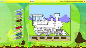 train coloring page youtube