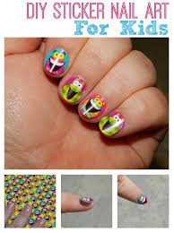 diy silly sticker nail art for kids totally the bomb com
