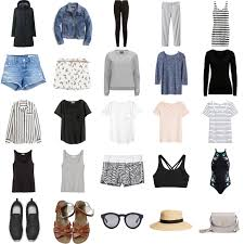 Wardrobe Clothing Capsule Wardrobe For Carry On Only Family Travel Happy Grey Lucky