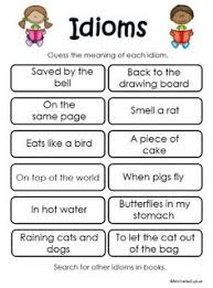 idiom worksheets 4th grade 4th grade esl pinterest idioms