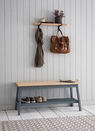 clockhouse hallway bench in charcoal beech garden trading