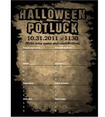 i designed a halloween potluck sign out sheet for my company
