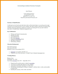 sample resume fresh graduate accounting student download fresh