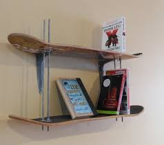 Skateboard Shelf Skateboard Bookshelf Home Design