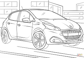 peugeot 208 coloring page free printable coloring pages