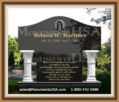 headstones houston black granite headstones pictures