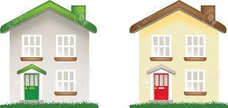 illustration of 2 modern family houses royalty free cliparts