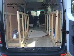 sprinter van conversion floor plans bed frame construction u2013 sprinter van diaries