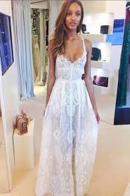 spaghetti wedding dress boho white spaghetti straps lace wedding dress bridal gown