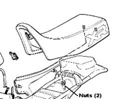 solved how do you remove the seat from a 1985 honda xr600 fixya