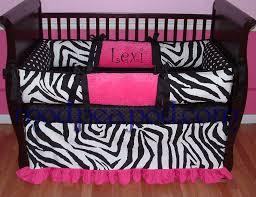 Custom Girls Bedding by Lexi Zebra Pink Black And White Baby Bedding 119 00