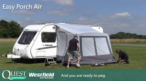 Porch Awnings Quest Caravan And Motorhome Awnings Demonstraion Video Easy Porch