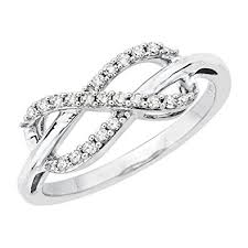 infinity diamond ring infinity diamond ring in sterling silver 1 5 cttw
