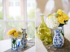 Yellow Decor Ideas Blue And Yellow Wedding At Baylor Yellow Table Table