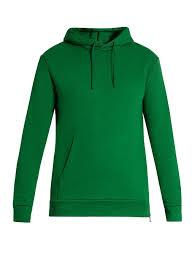 balmain side zip hooded cotton jersey sweatshirt green mens