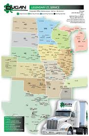 Maps Okc View Our Service Maps And Truckline Routes Dugan Truck Line