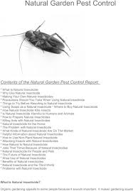 Gardening Pest Control - natural garden pest control report download documents ebooks
